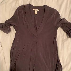H&M satin sheen dress shirt US 4